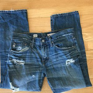 Ag Adriano Goldschmied Ex-boyfriend Crop Jeans